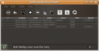 JahSing playlist using substance Raven Java Look and Feel.